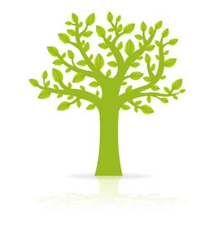 Green eco tree vector