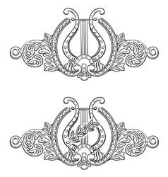 Ancient lyre vector