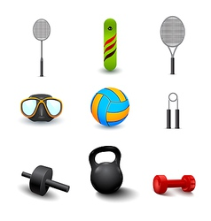 Icon of sports equipment vector
