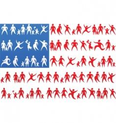 Usa flag background vector