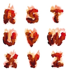 English burning alphabet vector