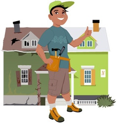 Renovate a house vector