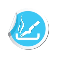 Smoking blue label vector