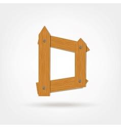 Wooden boards letter d vector