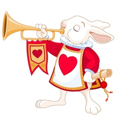 Bunny royal trumpeter vector