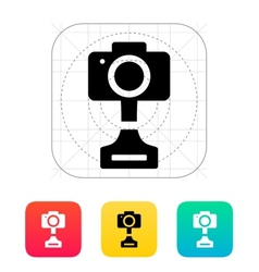 Slr photo award icon on white background vector