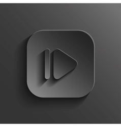 Media player icon - black app button vector