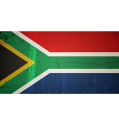 Grunge flags - south africa vector