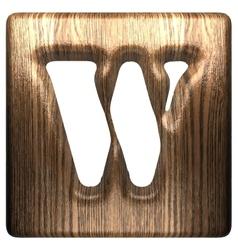 Wooden figure w vector