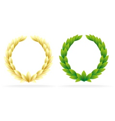 Award olive wreath vector