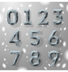 Trendy grey fractal geometric numbers vector