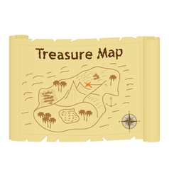 Treasure map vector
