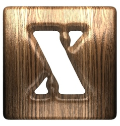 Wooden figure x vector