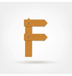 Wooden boards letter f vector