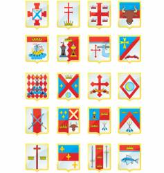 Heraldic shields vector