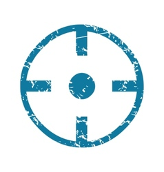 Grunge target icon vector