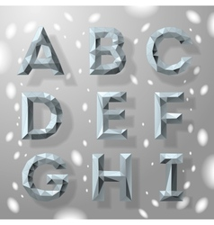 Trendy grey fractal geometric alphabet part 1 vector