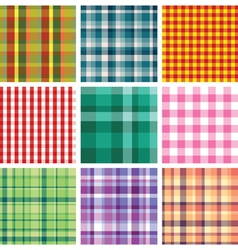 Checkered print vector