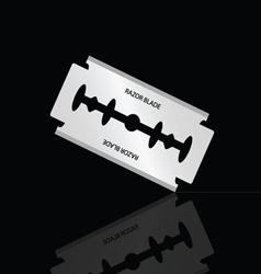 Razor blade silver vector