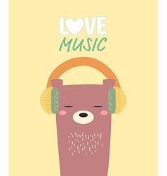 Bear love music vector