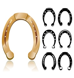 Horseshoe set vector