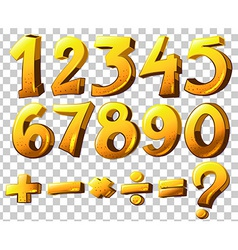 Numbers and symbols vector