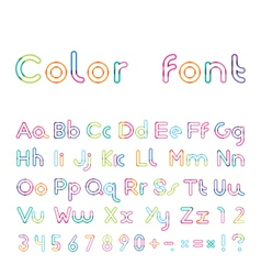 Font from a color inking vector