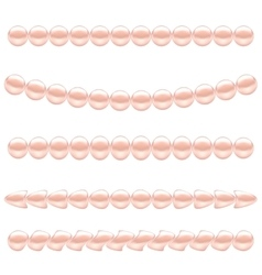 Pink pearl necklace vector