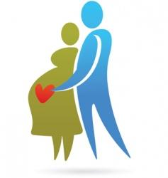 Pregnancy silhouettes vector