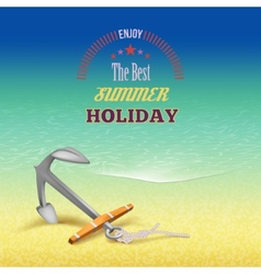 Nautical summer travel poster design vector