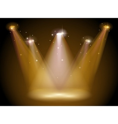 Light and stage vector