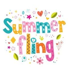 Summer fling vector