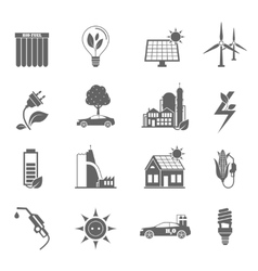 Eco energy icon vector