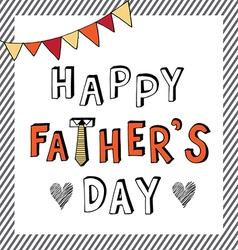 Happy father day doodle stripe frame vector