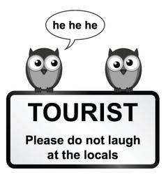 Tourist sign vector