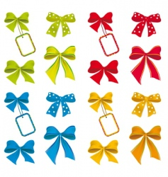 Collection of ribbons for design vector