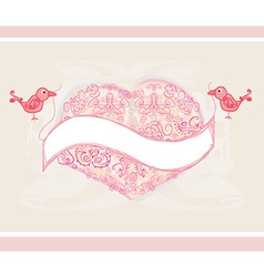 Valentines day greeting card with 2 sweet love vector
