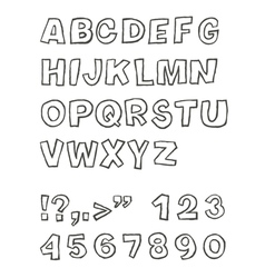 Handwritten sans serif abc vector