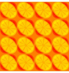 Retro pattern with lemon slices vector
