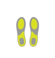 Flat icon of shoe insoles isolated on white vector