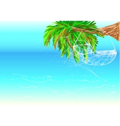 Hawaii beach and hammock vector