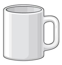 Coffee mug - white cup vector