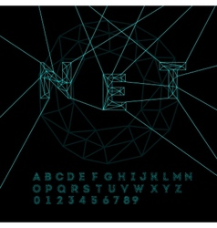 Space technology alphabet vector
