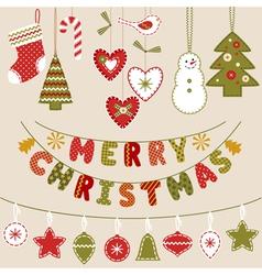 Handmade christmas decoration vector
