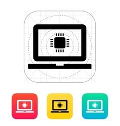 Laptop cpu icon vector
