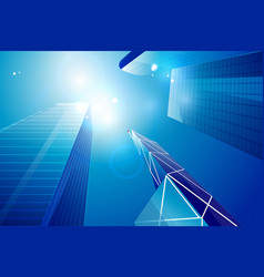 Business center  skyscrapers background vector
