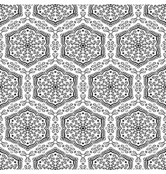 Geometrical pattern with floral elements vector