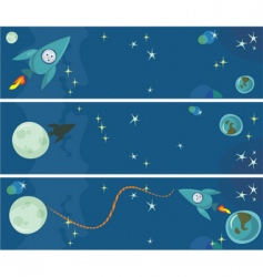 Space banners vector