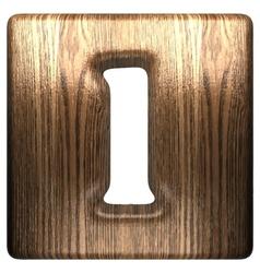 Wooden figure 1 vector