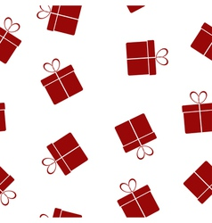 Seamless texture with gifts vector
